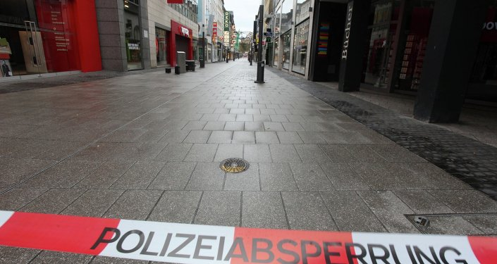 Picturs shows a deserted street as people were evacuated from their homes in the western German city of Koblenz ahead of work to defuse a World War II bomb.