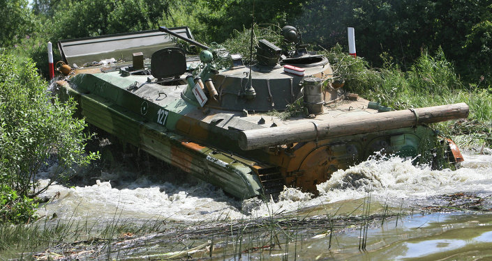 Training range for amphibious armored vehicle drivers
