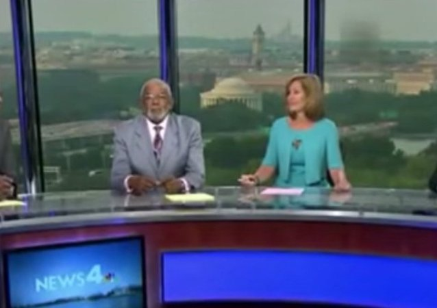 Fire Alarm Doesn't Stop Newscast