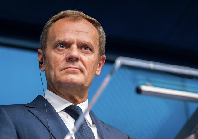 European Council President Donald Tusk speaks during a final media conference after an EU summit in Brussels on Friday, June 26, 2015