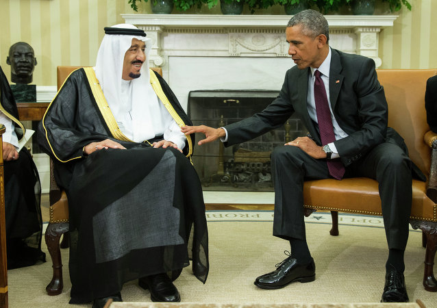 President Barack Obama, right, meets with King Salman of Saudi Arabia in the Oval Office of the White House, on Friday, Sept. 4, 2015, in Washington