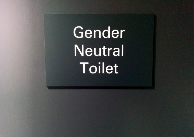 Gender Neutral Toilet sign, Imperial College Union, South Kensington, London, UK