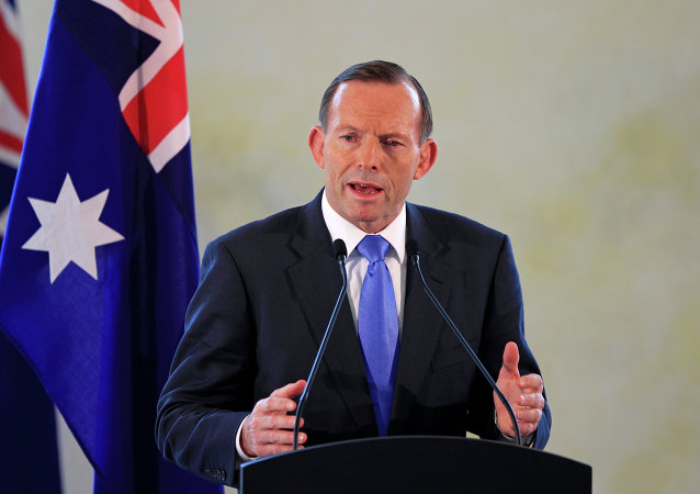 Australian Prime Minister Tony Abbott speaks during a joint press conference
