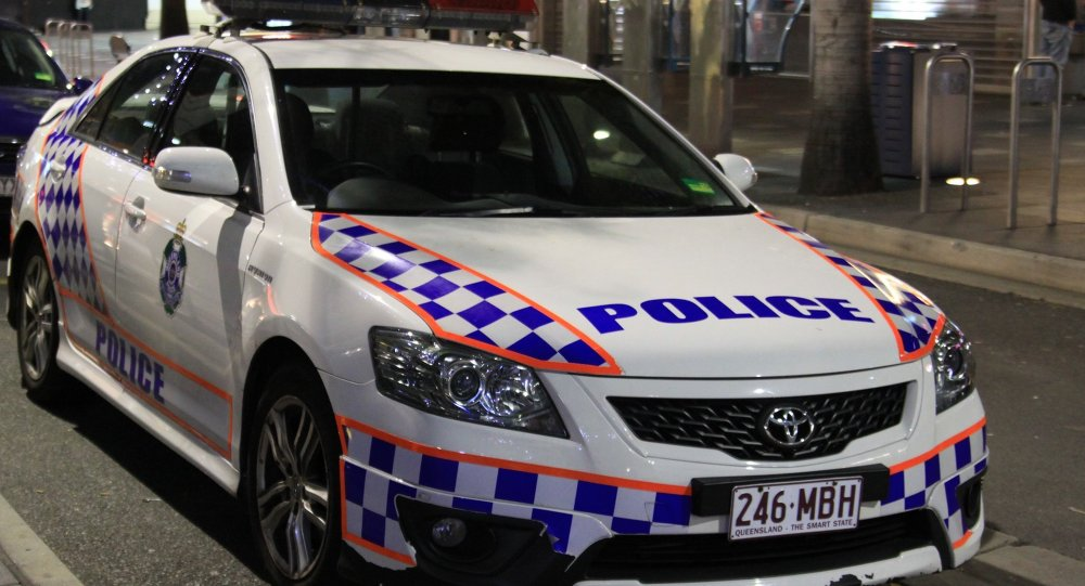 A police car in Gold Coast, Queensland, Australia