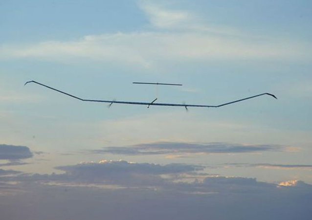 The solar-powered Zephyr UAV