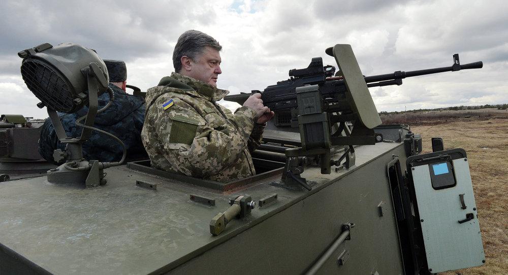 Slikovni rezultat za poroshenko with army