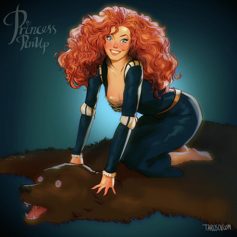 Pin Up Princess: Disney Princesses As Pin-up Models
