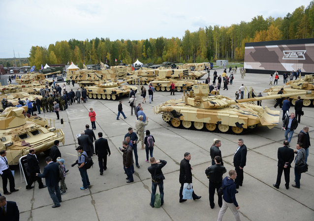 The 2015 Russia Arms Expo international exhibition's opening