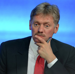 December 18, 2014. Presidential Press Secretary Dmitry Peskov during the tenth annual major news conference at the World Trade Centre on Krasnopresnenskaya Embankment