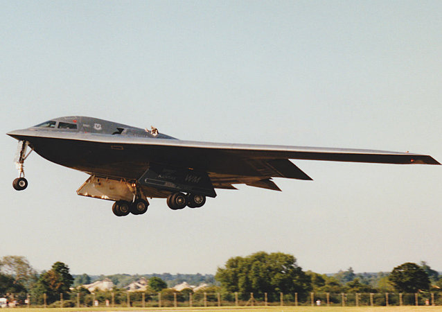 A B-2A - soon to be replaced by the next-generation bomber - takes off.