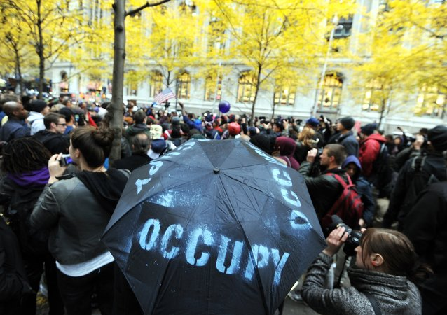 Demonstrators with 'Occupy Wall Street' in Zuccotti Park. (File)