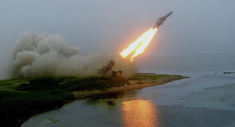 Launch of coastal rocket complex Redut