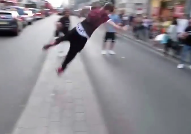 Guy Flips Over A Road With Some Epic Parkour