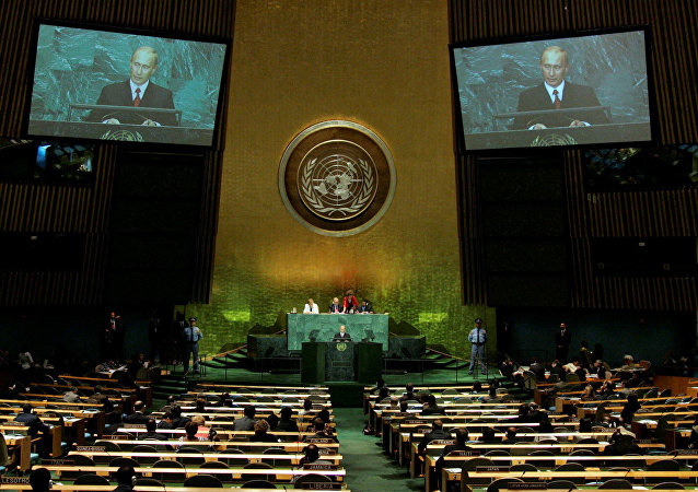 Vladimir Putin's address to the UN General Assembly session. File photo