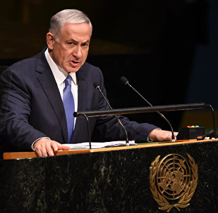 Prime Minister of Israel Benjamin Netanyahu, addresses the 69th session of the United Nations General Assembly September 29, 2014 at the United Nations in New York