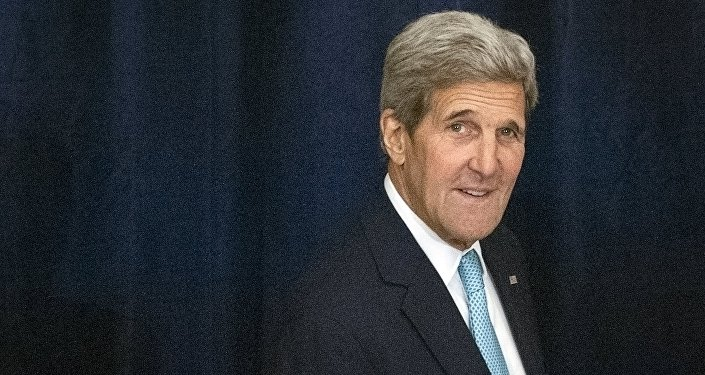 U.S. Secretary of State John Kerry arrives for a high-level United Nations (U.N.) event on Afghanistan, at the Palace Hotel in New York, September 26, 2015