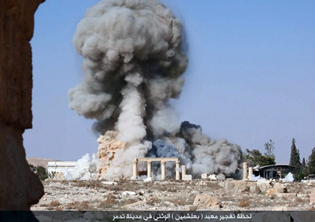 ISIL terrorists kill their prisoners in various barbaric ways – chopping their heads off, drowning in water, burning in cages – but now in Palmyra they're blowing up people tied to ancient columns, Maamun Abdelkarim, the director of museums and cultural heritage, told RIA Novosti.