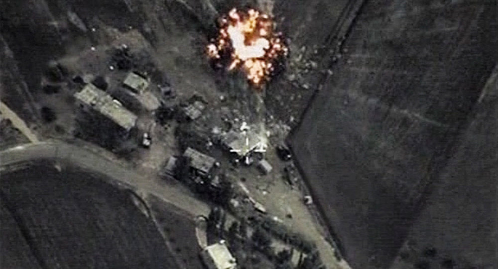 Russia carries out air strikes on ISIS positions in Syria