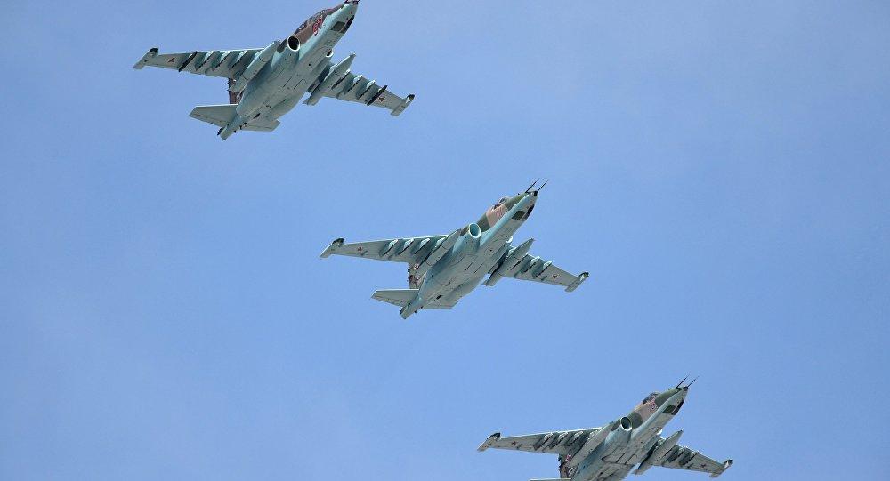 Su-25SM strike jet aircraft
