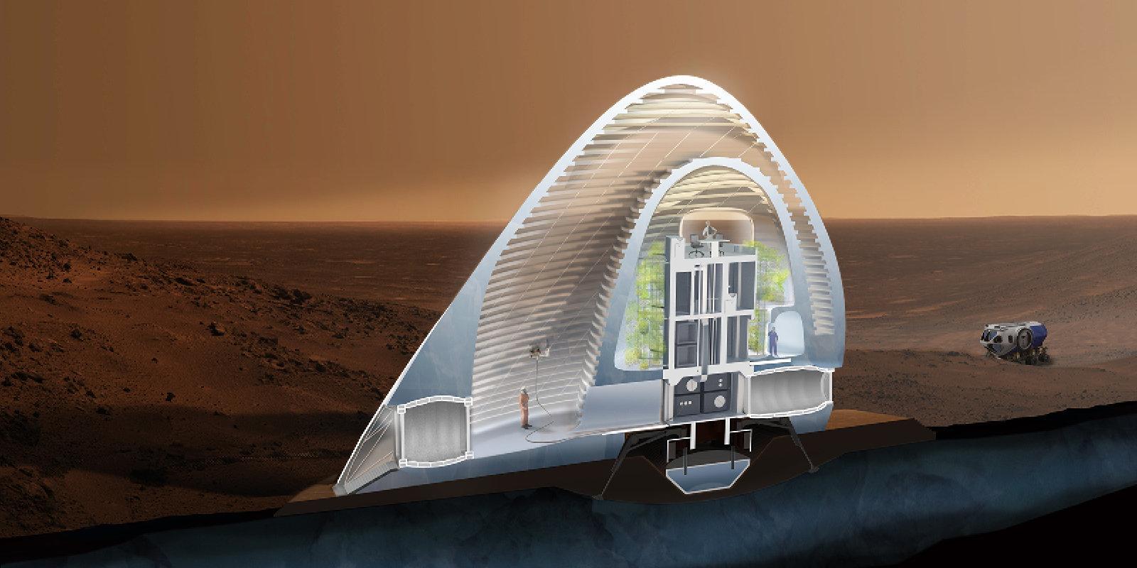 3d printed igloo wins house on mars design contest sputnik international. Black Bedroom Furniture Sets. Home Design Ideas