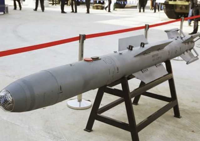 The KAB-250 laser-guided bomb on display at the Russian Defence Ministry Innovation Day 2015
