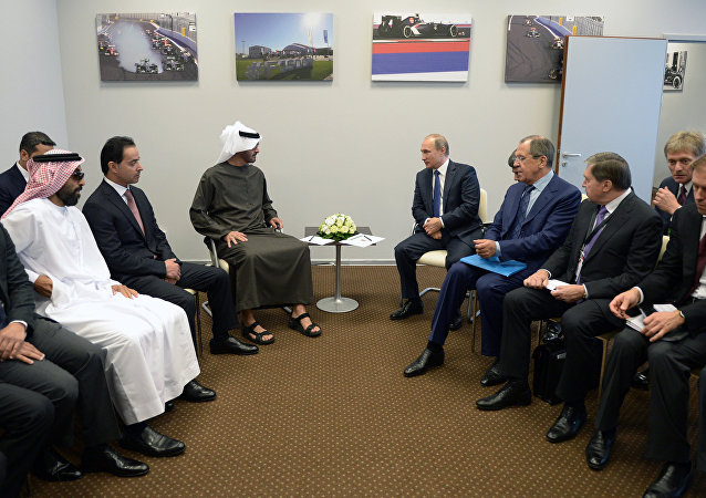 Vladimir Putin meets with Crown Prince of Abu Dhabi Mohammed bin Zayed Al Nahyan
