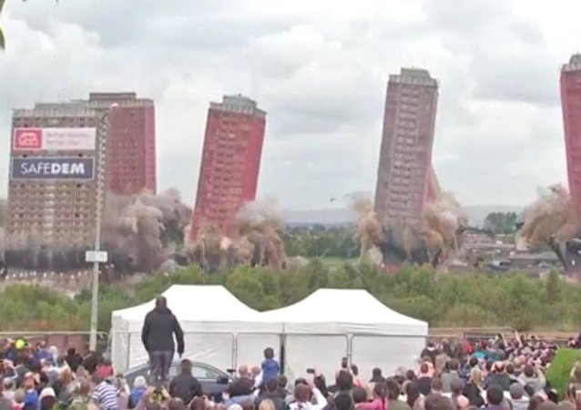 Crowds Jeer At Botched TOWER Block DEMOLITION