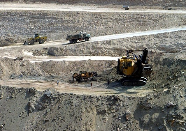 A general view of Golgohar Iron Ore mine in Sirjan some 1050 kms southeast of the capital Tehran