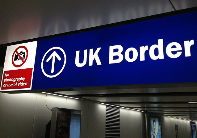 UK border control sign