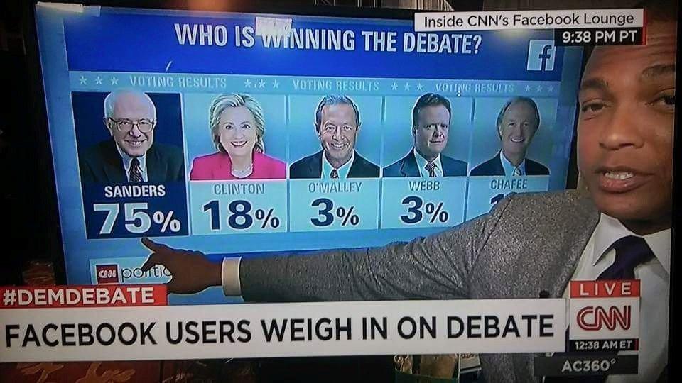 CNN #DemDebate Poll Show Bernie Berning it Up