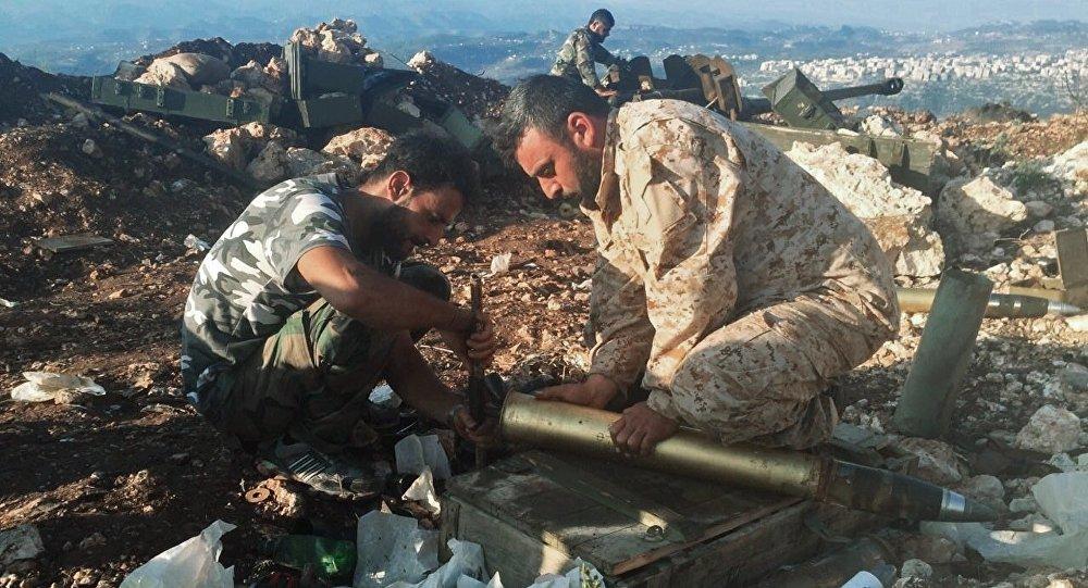 Syrian army positions near Aramu