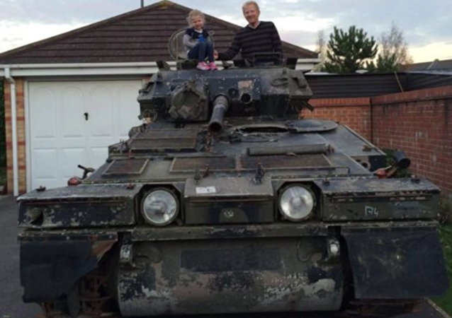 After purchasing a seven-ton tank on an online auction, a British man was forced to move out of his apartment as he couldn't find enough space to park his armored vehicle, ITV News reported.