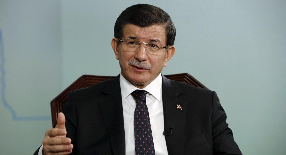 Turkish Prime Minister Ahmet Davutoglu.