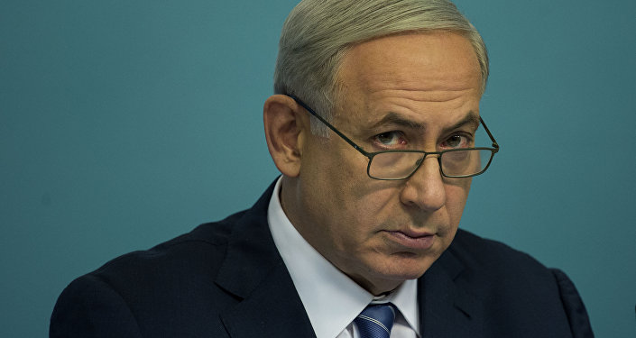 Israeli Prime Minister Benjamin Netanyahu speaks during a press conference.