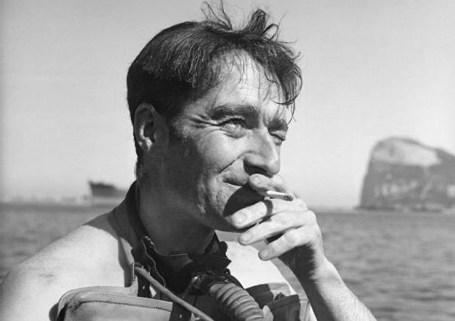 Portrait of Lieutenant Lionel 'Buster' Crabb, RNVR, Officer in Charge of the Underwater Working Party in Gibraltar