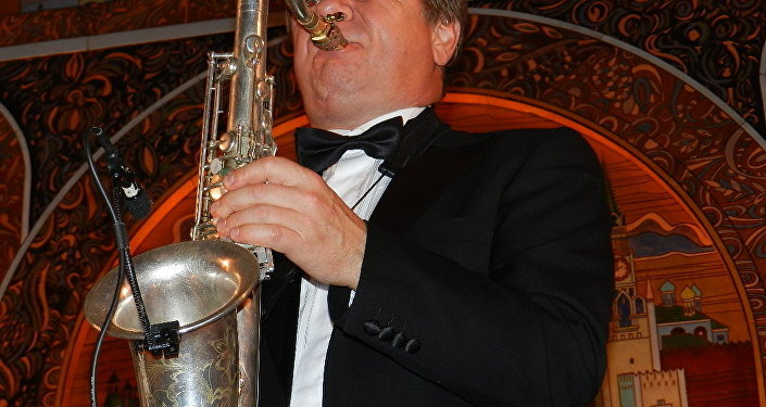 Russian jazz legend Igor Butman performed at the Russian Embassy in Washington Oct. 7.