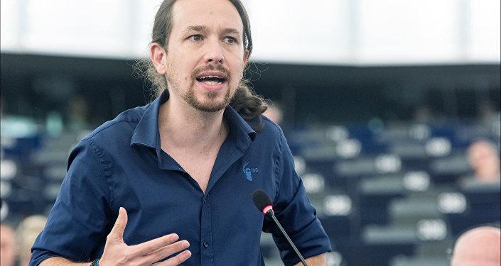 Leader of Spanish Podemos  Party, Pablo Iglesias