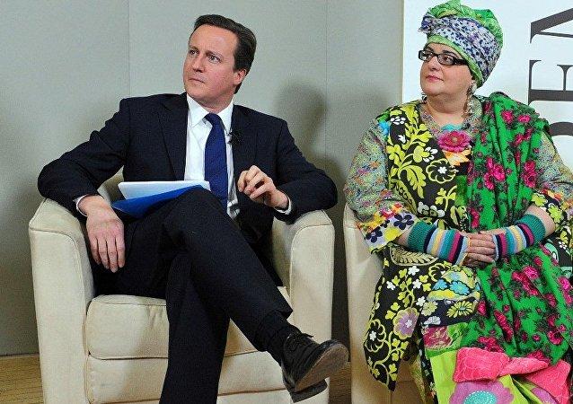 David Cameron and Camila Batmanghelidjh