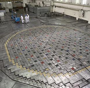 The reactor of the Leningrad nuclear power plant in Sosnovy Bor
