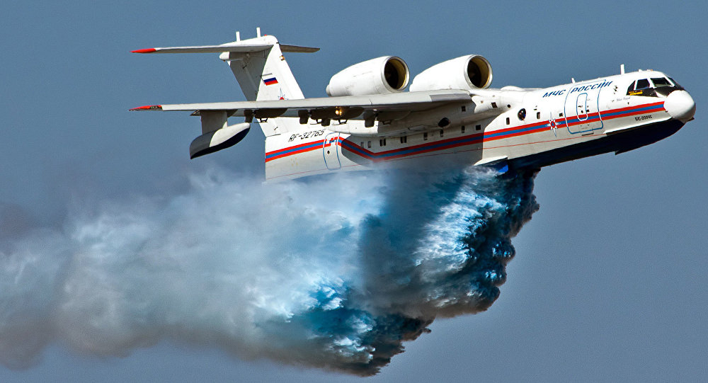 Russian amphibious Be-200 aircrafts