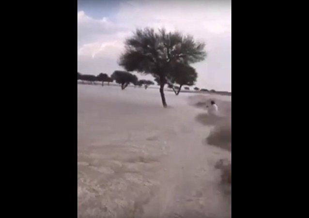 Ice Flash Flood in Saudi Arabia