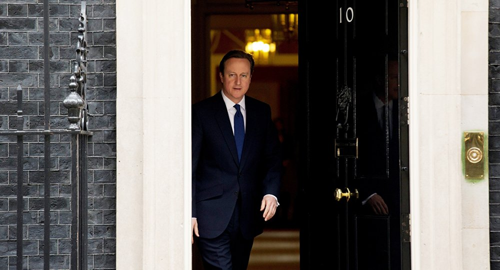 British Prime Minister David Cameron leaves 10 Downing Street in London.
