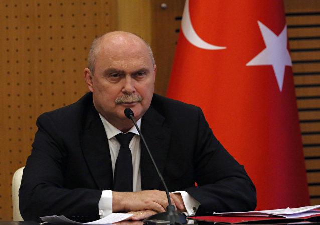 Turkish foreign minister Feridun Sinirlioglu.
