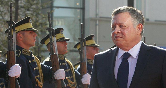 Jordan's King Abdullah inspects the honour guard in Pristina, Kosovo November 17, 2015