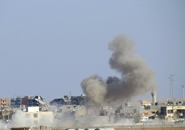 a US-led coalition airstrike