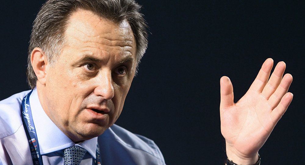 Russian Minister of Sports, Tourism and Youth Policy Vitaly Mutko