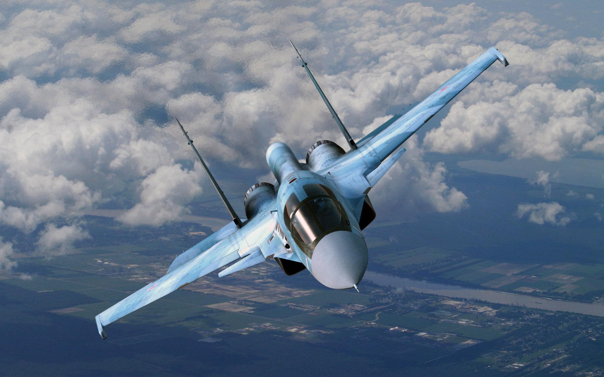 Sukhoi Su-34 in flight