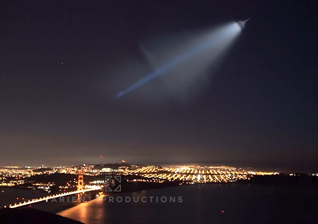Missile launch over San Francisco
