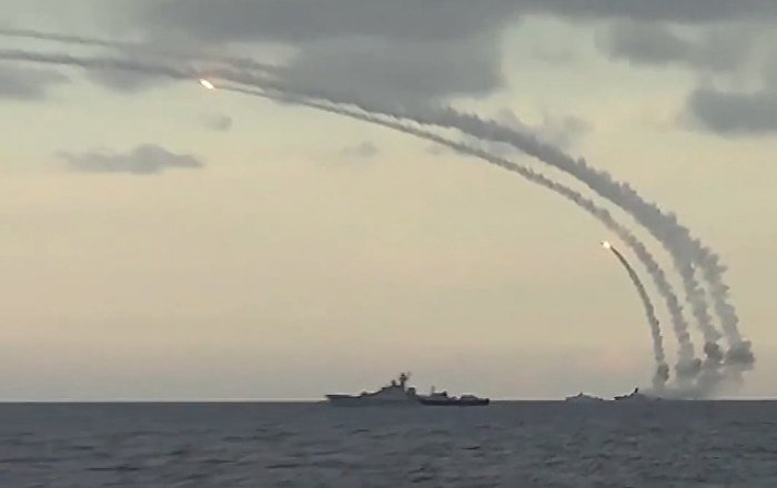 Russia Releases Video Of Missile Strikes On Isil Targets