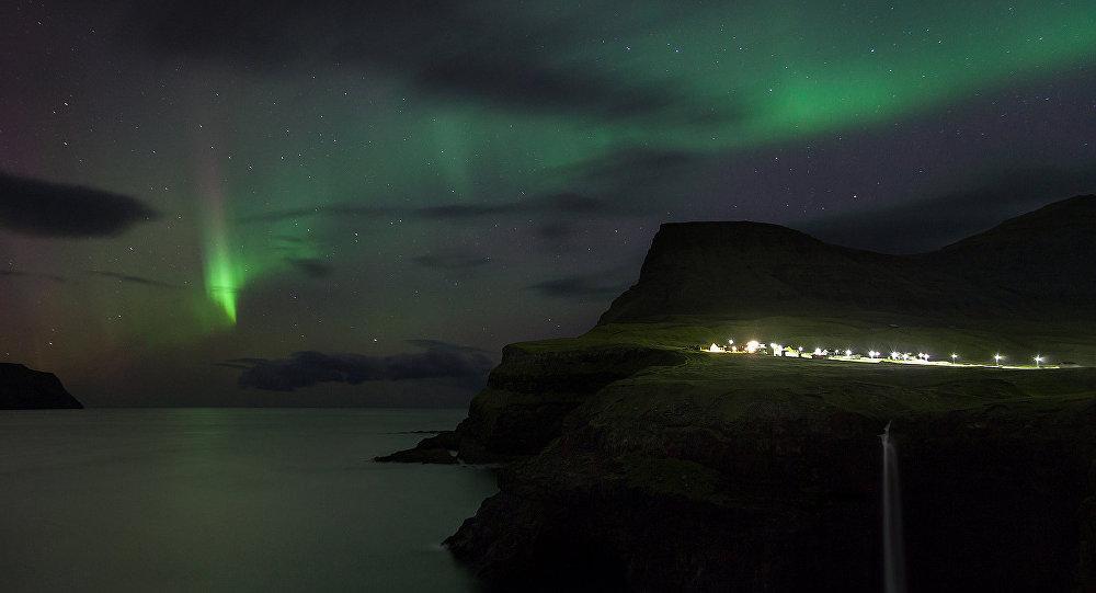Northern Lights at Gásadalur